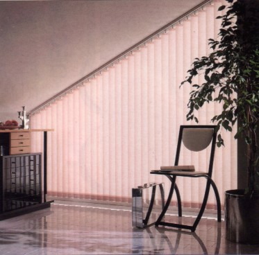vertical blind slats for angled or sloping windows